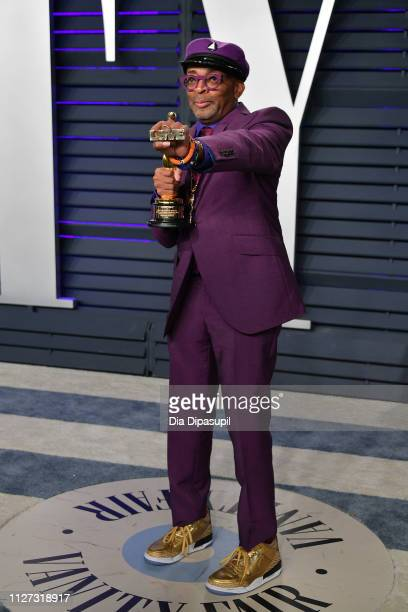 Spike Lee winner of Adapted Screenplay for ''BlacKkKlansman attends the 2019 Vanity Fair Oscar Party hosted by Radhika Jones at Wallis Annenberg...