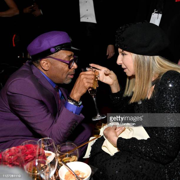 Spike Lee winner of Best Adapted Screenplay for 'BlacKkKlansman' and Barbra Streisand attend the 91st Annual Academy Awards Governors Ball at...