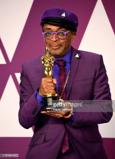Spike Lee winner of Best Adapted Screenplay for BlacKkKlansman poses in the press room during the 91st Annual Academy Awards at Hollywood and...