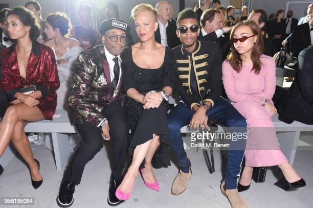 Spike LeeTonya LewisJackson Lee and Satchel Lee attend Fashion for Relief Cannes 2018 during the 71st annual Cannes Film Festival at Aeroport Cannes...