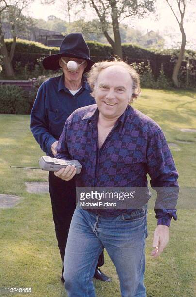 Spike Milligan and Van Morrison portraits April 1989