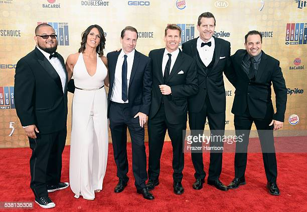 Spike Sports Announcers Manny Rodriguez Dana Jacobson Sean Grande Scott Hanson Michael C Williams and George X attend Spike TV's 10th Annual Guys...