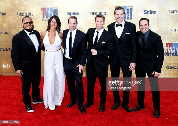 Spike Sports Announcers Manny Rodriguez Dana Jacobson Sean Grande Scott Hanson Michael C Williams and George X attend Spike TV's 'Guys Choice 2016'...