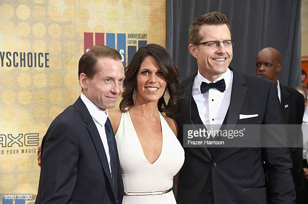 Spike Sports Announcers Sean Grande Dana Jacobson and Michael C Williams attend Spike TV's 10th Annual Guys Choice Awards at Sony Pictures Studios on...