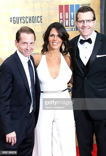 Spike Sports Announcers Sean Grande Dana Jacobson and Michael C Williams attend Spike TV's 'Guys Choice 2016' at Sony Pictures Studios on June 4 2016...