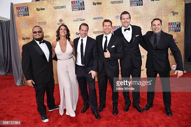 Spike sportscasters Manny Rodriguez Dana Jacobson Sean Grande Scott Hanson Michael C Williams and George X attend Spike TV's 10th Annual Guys Choice...