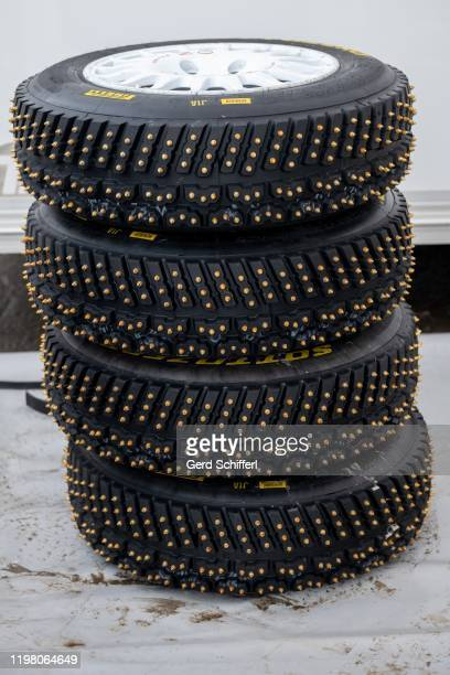 Spike tires for the Audi S1 EKS WRX quattro of Marcel Hirscher of Austria during the GP ICE RACE on February 2, 2020 in Zell am See, Austria.