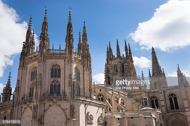 Spikes on the roof of the cathedral, Burgos, Spain
