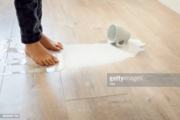 spilled milk - spilling stock photos and pictures