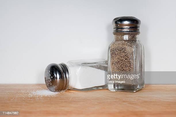 Spilled salt and pepper