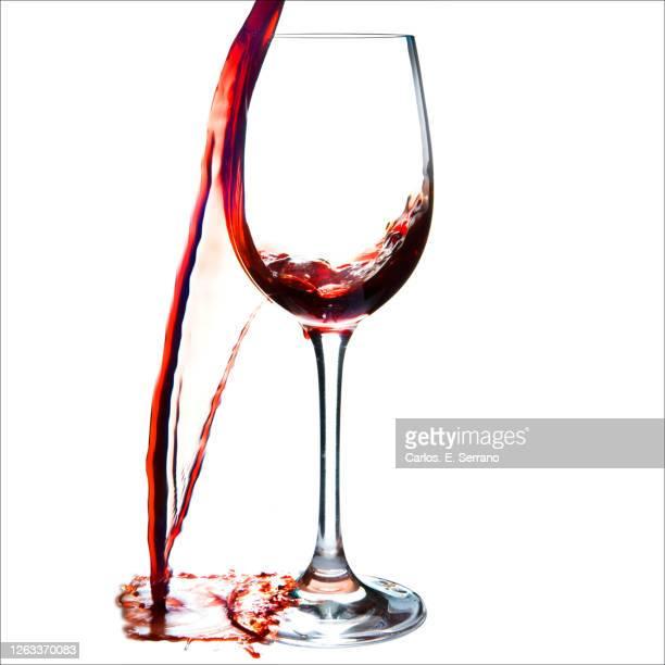 spilled wine - wine stain stockfoto's en -beelden