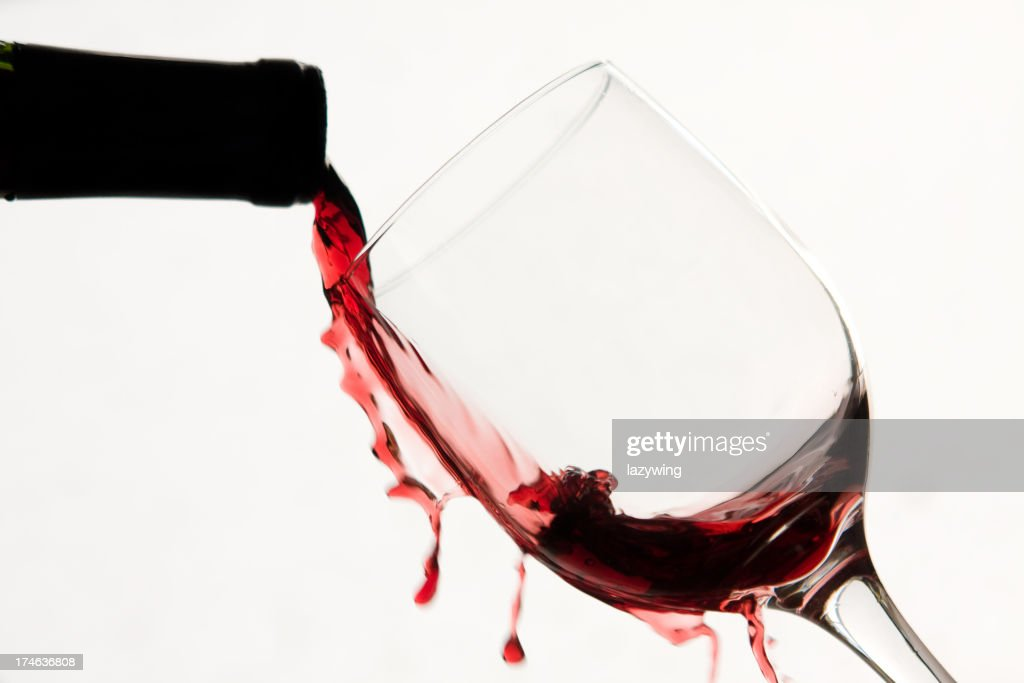 spilled wine : Stock Photo
