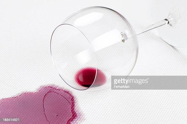 Spilled wine.