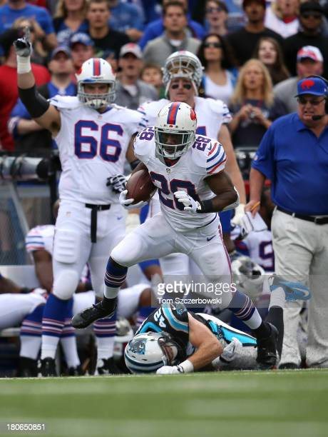 J Spiller of the Buffalo Bills runs with the ball during NFL game action against the Carolina Panthers at Ralph Wilson Stadium on September 15 2013...