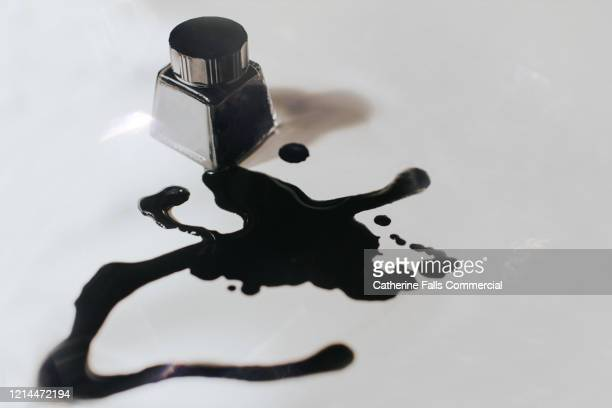 spilt ink - stain test stock pictures, royalty-free photos & images