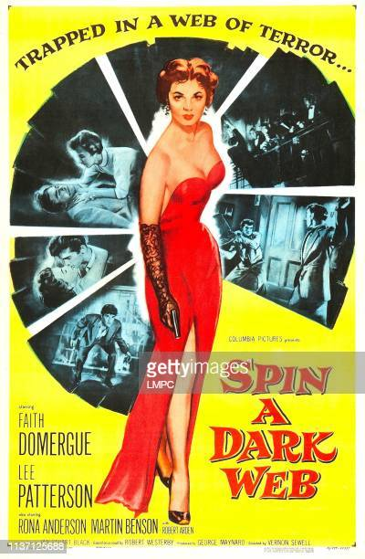 Spin A Dark Web poster US poster art Faith Domergue 1956