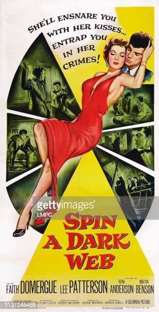 Spin A Dark Web poster US poster art Faith Domergue 1956