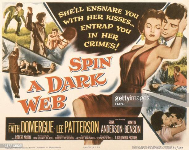 Spin A Dark Web poster US poster from left Faith Domerge Lee Patterson 1956