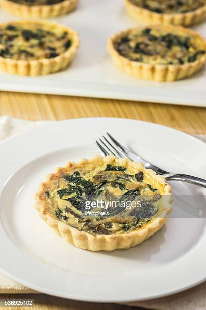 Spinach and Mushroom Quiches