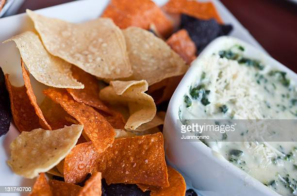 spinach and parmesan cheese dip - dipping stock photos and pictures