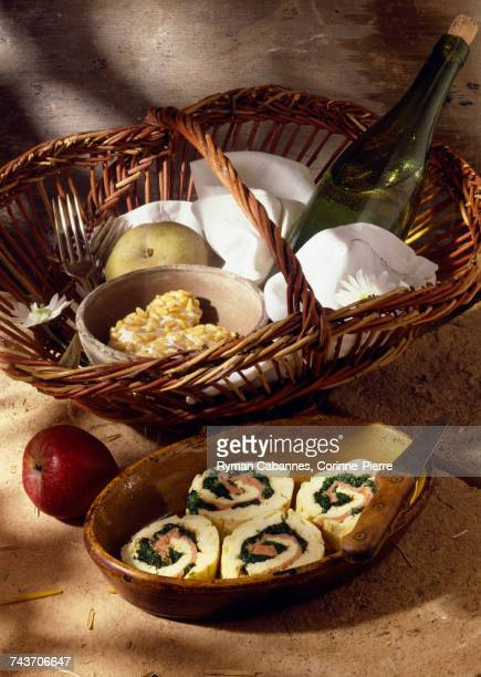 spinach and salmon omelette rolls (topic: tuscan picnic)