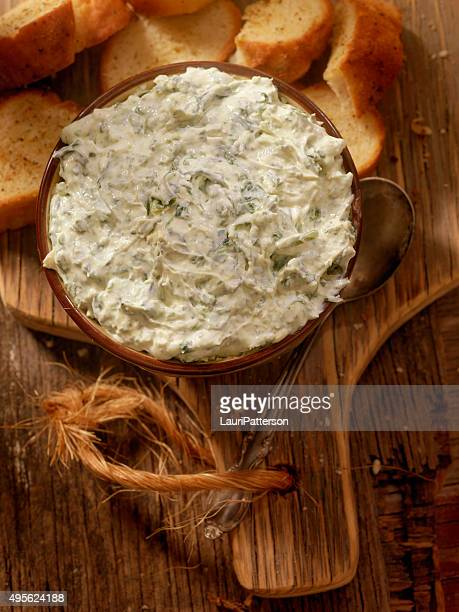 Espinafres queda com Crusty pão