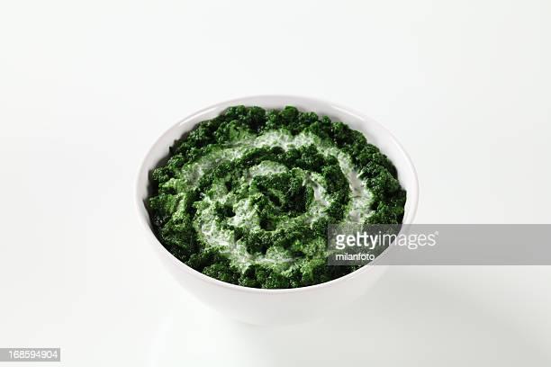 Spinat-Püree mit Creme