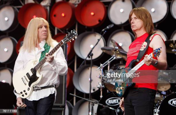 Spinal Tap perform on stage during the Live Earth concert held at Wembley Stadium on July 7 2007 in London Live Earth is a 24hour 7continent concert...