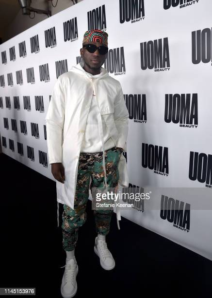 Spinall attends UOMA Beauty Launch Event at NeueHouse Hollywood on April 25 2019 in Los Angeles California