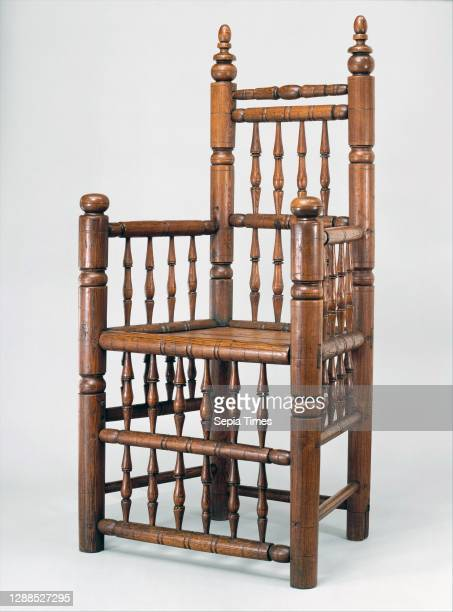 Spindle-back armchair, 1640–80, Possibly made in Boston, Massachusetts, United States; Possibly made in Charlestown, Massachusetts, United States,...