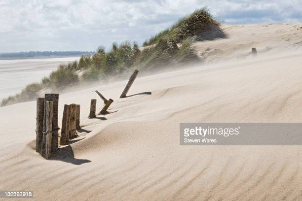 spindrift - camber sands stock photos and pictures