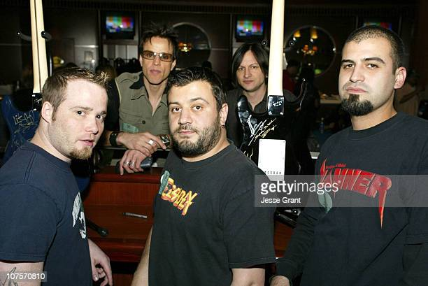 Spineshankwith Orgy during Westwood One Backstage at the GRAMMYS at Staples Center in Los Angeles California United States