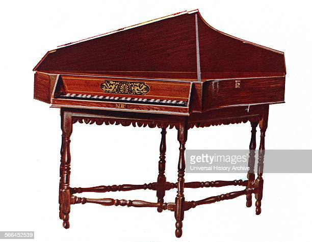 Spinet This instrument can be seen placed on its original stand which was crafted in London around the end of the seventeenth century It is a...