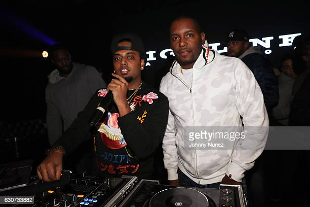 SpinKing and DJ Self attend the New Year's Eve Preparty With Meek Mill on December 30 2016 in New York City