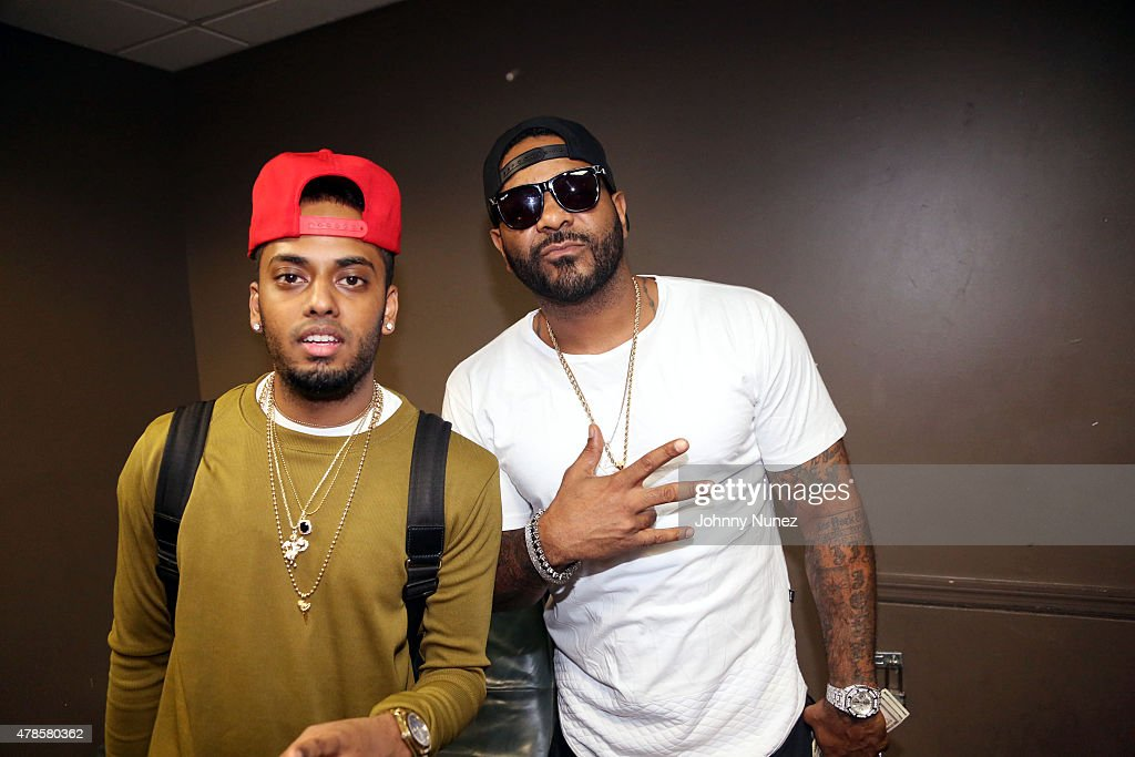 DJ SpinKing and Jim Jones attend Stage 48 on June 25, 2015, in New York City.
