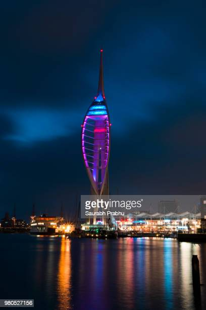 spinnaker tower - spinnaker tower stock photos and pictures