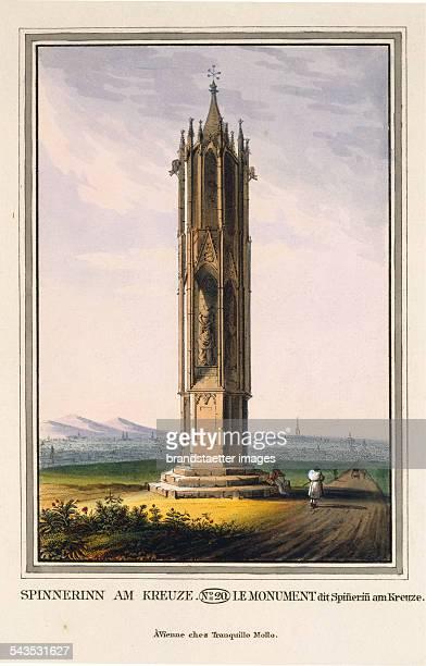 Spinnerinn am Kreuze> [Spinnerin am Kreuz 1451/52] 1825 Colored copper engraving Journal No 18 from >Wiens vorzüglichste Gebäude und Monumente Les...