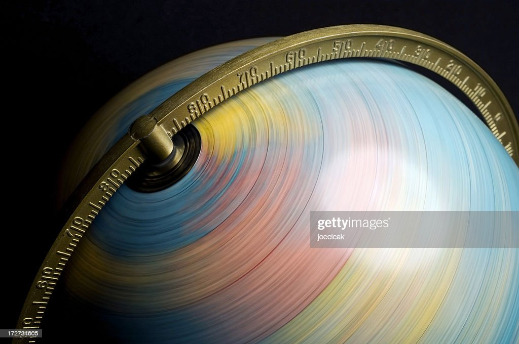 Spinning Globe : Stock Photo