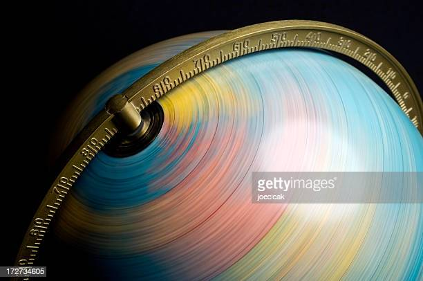 spinning globe - spinning stock pictures, royalty-free photos & images