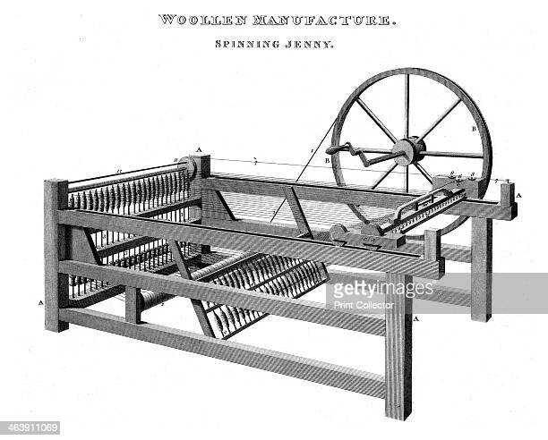 Spinning Jenny, 1820. The Spinning Jenny was invented by James Hargreaves in 1764. On his original machine, a single wheel controlled eight spindles...