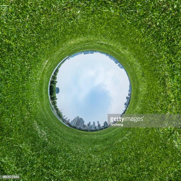 spinning little planet - formato de pequeno planeta - fotografias e filmes do acervo