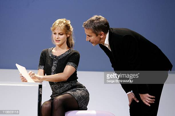 Spinning Of The Play 'En Toute Confiance' At The Comedie Des Champs-Elysees In Paris, France On September 07, 2007 - Elodie Navarre and Jean-Pierre...