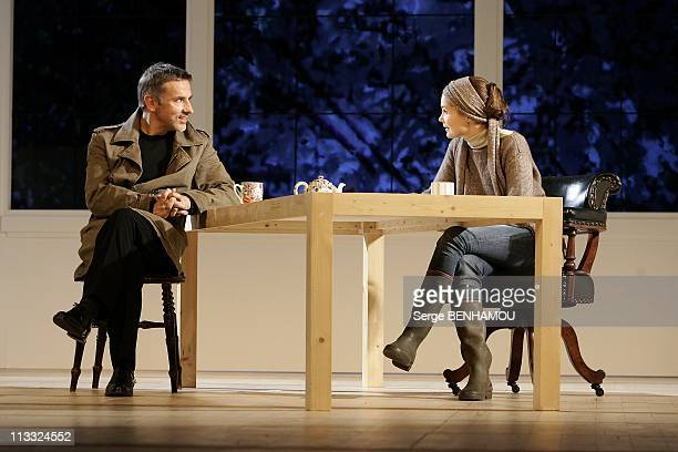 Spinning Of The Play 'En Toute Confiance' At The Comedie Des Champs-Elysees In Paris, France On September 07, 2007 - Barbara Schulz and Jean-Pierre...