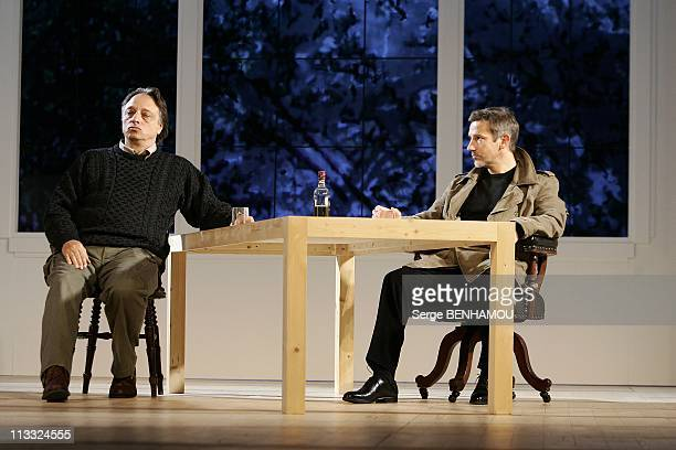 Spinning Of The Play 'En Toute Confiance' At The Comedie Des Champs-Elysees In Paris, France On September 07, 2007 - Jean-Pierre Malo and Jean-Pierre...