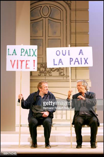 Spinning of the play 'La Danse De L'Albatros' by Gerard Sibleyras staged by Patrice Kerbrat performed by Pierre Ardit Jean Michel Dupuis Josiane...