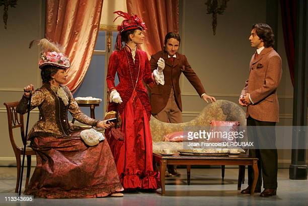 Spinning Of The Play 'L'Importance D'Andre Constant' By Oscar Wilde At Theatre Antoine Directed By Pierre Laville On August 29Th 2006 In Paris France...