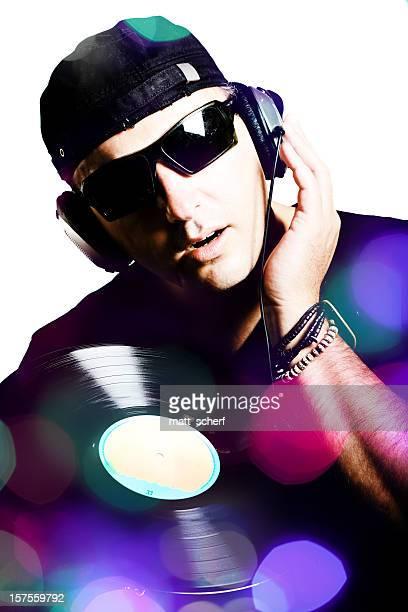 DJ Spinning Record