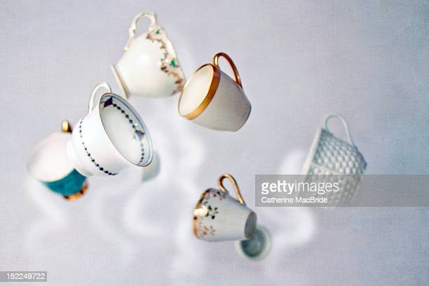 spinning tea-cups - catherine macbride stock pictures, royalty-free photos & images