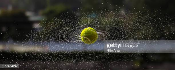 spinning tennis ball, gwalior, madhya pradesh, india - tennis ball stock pictures, royalty-free photos & images