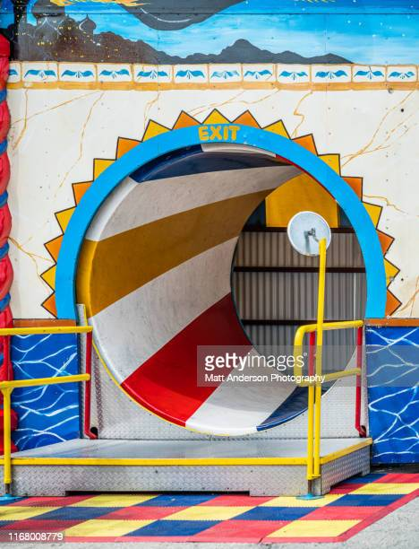 spinning tube carnival ride - festival of remembrance 2019 stock photos and pictures